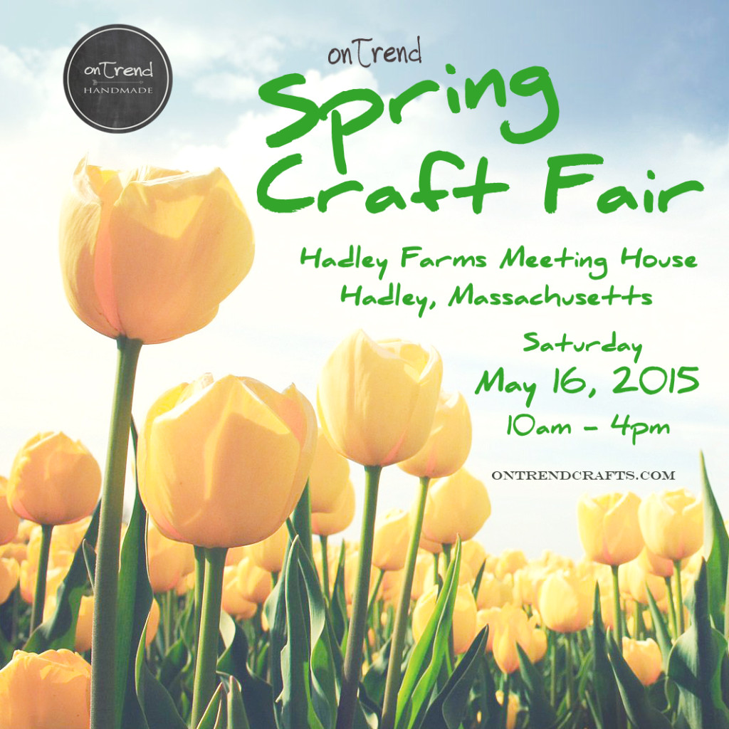 Yellow tulips spring fair announcement